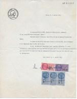 Fiscaux : Reconnaissance De Dette Sur Papier Timbré 2NF50 Du 8/1/1963 Avec 5 Timbres Fiscaux En Nouveaux Francs - Fiscaux