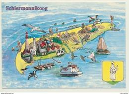 AK  Orientierungskarte Map Schiermonnikoog - Cartes Géographiques
