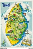 AK  Orientierungskarte Map Texel - Cartes Géographiques