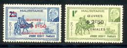 Mauritanie 1944 Yvert 131 / 132 ** TB - Mauritania (1906-1944)