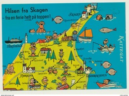 AK  Map Skagen - Cartes Géographiques