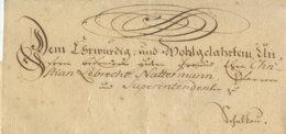 ~1770 Schnörkelbriefhülle N. Schalkau - Duitsland