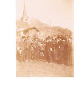 Photo Originale Canton Du Valais ? Des Grisons ? Fête ? à Identifier - Places