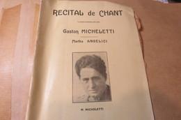 RECITAL DE CHANT GASTON MICHELETTI MARTHA ANGELICI BACH HAENDEL AIRS POPULAIRES  CORSES - Programmi