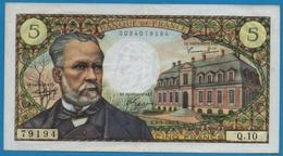 FRANCE 5 Francs 5.5.1966 PASTEUR# Q.10  79194 - 1962-1997 ''Francs''