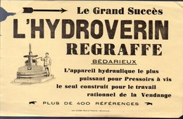 Bédarieux (34 Herault)  Prospectus L'HYDROVERIN  (PPP22040) - Advertising