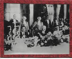 Photo Le Président Albert Lebrun Avec Edouard VIII Et Mrs Simpson. - Documents Historiques
