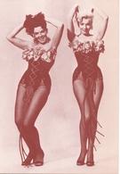 PK - Vedette Film - Artieste Star - Marilyn Monroe En Jane Russel - Repro Kaart - - Artistes