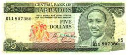 Billet >   Barbades  > 5 Dollars - Barbados