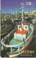SWITZERLAND - PHONE CARD - PRÉPAID - TELELINE  ***  BATEAU / 3  *** - Boats