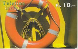 SWITZERLAND - PHONE CARD - PRÉPAID - TELELINE  ***  BATEAU / 6  *** - Barcos