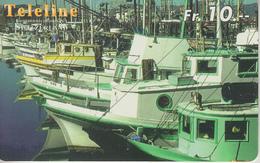 SWITZERLAND - PHONE CARD - PRÉPAID - TELELINE  ***  BATEAU / 10  *** - Boats