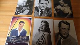 6 Foto's Filmsterren Jaren 19??  - 17 X 22 Cm (zie Details) - Obj. 'Souvenir De'
