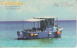 SWITZERLAND - PHONE CARD - PRÉPAID - TELELINE  ***  BATEAU / 11  *** - Boats