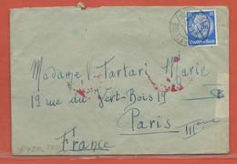 ALLEMAGNE LETTRE  CENSUREE DE 1941 DE HALLE POUR PARIS FRANCE - Briefe U. Dokumente