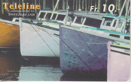 SWITZERLAND - PHONE CARD - PRÉPAID - TELELINE  ***  BATEAU / 12  *** - Boats