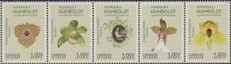 ECUADOR, 2019, MNH, ALEXANDER HUMBOLDT, FLORA, FLOWERS, ORCHIDS, 5v - Orchideen