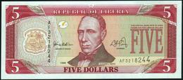 LIBERIA - 5 Dollars 1999 UNC P.21 - Liberia