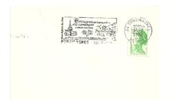 HERAULT - Dépt N° 34 = PORTIRAGNES 1988 =  FLAMME Type II = SECAP Illustrée + TREFLE à 4 Feuilles ' LANGUEDOC - VINS ' - Marcophilie (Lettres)
