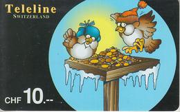 SWITZERLAND - PHONE CARD - PRÉPAID - TELELINE  ***  HUMOUR - 1  *** - Fumetti
