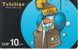 SWITZERLAND - PHONE CARD - PRÉPAID - TELELINE  ***  HUMOUR - 2  *** - Fumetti