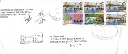 MEXICO REGISTERED POSTAL HISTORY COVER TO PAKISTAN - Mexico