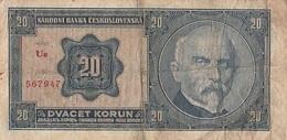 20 Korun Tchécoslovaquie 1926 - Czechoslovakia