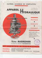 Bordeaux (33 Gironde) Catalogue VICTOR MARMONIER  Appareils Hydrauliques  (PPP11740) - Advertising