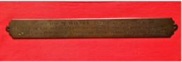 Plaque 1919/ Usines Providence/ Marchienne-Au-Pont - Andere