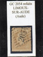 Aude - N° 28B (pli..) Obl GC 2054 Refaits Limoux-sur-Aude - 1863-1870 Napoléon III Lauré