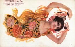 Advertising - Publicité - Spain - Petersen & Co - Fruit & Wine Exporters - Malaga - Illustrateur R. Mir - Bayadera - Publicité
