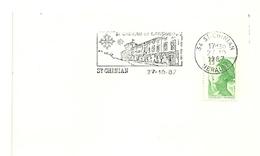 HERAULT - Dépt N° 34 = ST CHINIAN 1987 =  FLAMME Type II = SECAP Illustrée  ' En LANGUEDOC - VINS AOC ' - Marcophilie (Lettres)