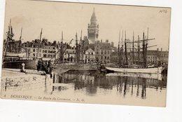Dunkerque Le Bassin Du Commerce  CPA ( Hôtel De Ville , Voilier Goélette - Dunkerque