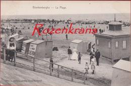 Blankenberghe Blankenberge La Plage Het Strand Geanimeerd Belle Epoque 1903 (In Zeer Goede Staat) - Blankenberge