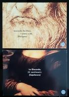 Leonardo Da Vinci Lot De 2 Carte Postale - Publicidad