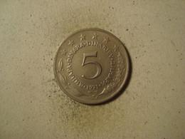 MONNAIE YOUGOSLAVIE 5 DINAR 1971 - Yugoslavia