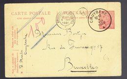 CP 62 De Sc Cruybeke 4 VIII 1920 => Bruxelles - Entiers Postaux