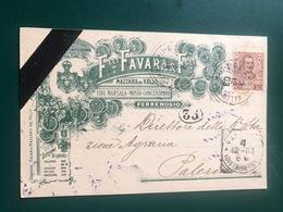 MAZARA DEL VALLO (TRAPANI)  VINI MARSALA MOSTO CONCENTRATO FERRENOSIO FRATELLI FIGLI  1903  UVA VINO - Mazara Del Vallo