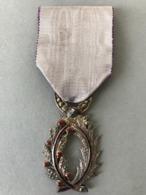 Médaille Chevalier Des Palmes Académique (Provenant Du Cadre Fabriqué Le Propriétaire était Sculpteur JT... - Médailles & Décorations