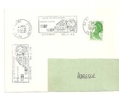 HERAULT - Dépt N° 34 = St PARGOIRE 1987 =  FLAMME Type II = SECAP Illustrée  '1937 Cinquantenaire Cave Coopérative' - Marcophilie (Lettres)