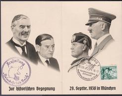 Wlk_ Deutsches Reich - Mi.Nr. 684 - Gestempelt Used Gedenkkarte Mit Sonderstempel Sudetendeutsches Hilfswerk 1939 - Used Stamps