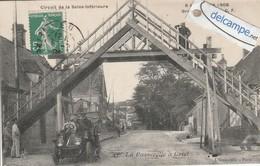 CRIEL : La Passerelle ,Circuit De La Seine Inférieure A.C.F,Voiture,animée. - Criel Sur Mer