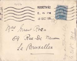 20570# ALBERT Ier LETTRE Obl PADDINGTON 18 OCT 1919 LONDRES GRANDE BRETAGNE ENGLAND LONDON Arrivée BRUXELLES 10 NOV 1919 - 1915-1920 Albert I