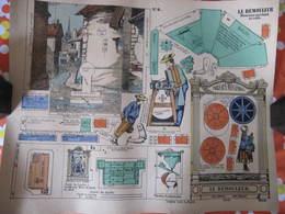 CONSTRUCTION POUR ENFANTS - PLIAGE ET DECOUPAGE - LE REMOULEUR - PELLERIN EPINAL - Carton : 49 X 40 Cm - Other