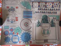 CONSTRUCTION POUR ENFANTS - PLIAGE ET DECOUPAGE - LES CHEVAUX DE BOIS - PELLERIN EPINAL - Carton : 49 X 40 Cm - Autres Collections