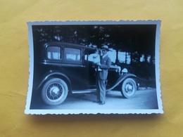 8 PHOTOS AUTOMOBILES CAR VOITURE ANCIENNE SUR ROUTE DE SART EN FAGNE NAMUR  WALLONIE FAMILLE BELGIQUE ANNÉES 1930 - Auto's