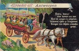 ANTWERPEN / GROETEN UIT ANTWERPEN  1911 - Antwerpen