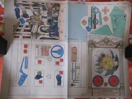 CONSTRUCTION POUR ENFANTS - PLIAGE ET DECOUPAGE - L'INCENDIE - PELLERIN EPINAL - Carton : 49 X 40 Cm - Other Collections