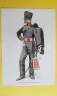 Illustration Couleur Militaire CAVALIER DU 1ER RÉGIMENT DE HUSSARD PRUSSIEN 1815 EMPIRE NAPOLÉON - Documents