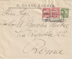 """Ungarn Brief Mit Bahnpoststempel /  Railway / TPO """"Zagrab - Steinbrück B"""" - Hungary"""